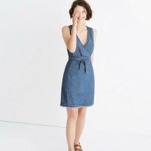 Madewell Raw Hem Wrap Dress
